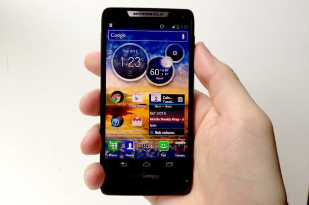 Motorola DROID RAZR M review front homepage android smartphone