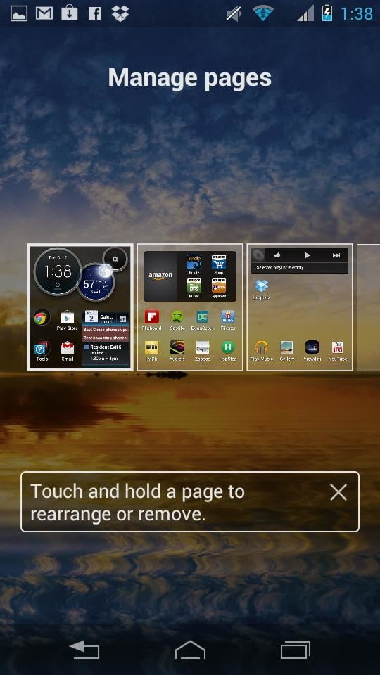 Motorola Droid RAZR M screenshot pages