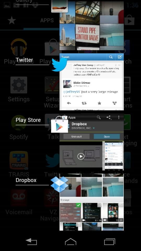 Motorola Droid RAZR M screenshot twitter