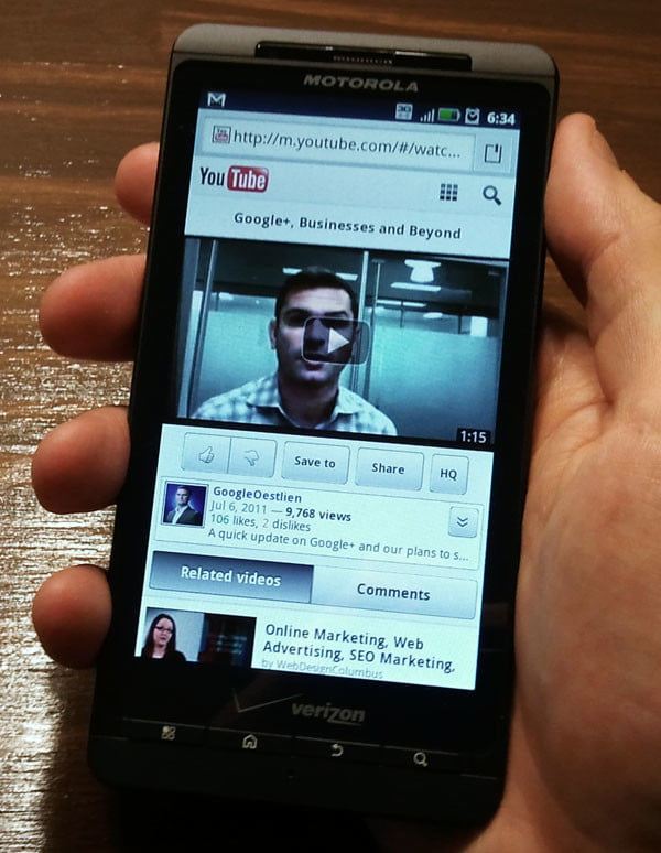 Motorola Droid X2 Youtube