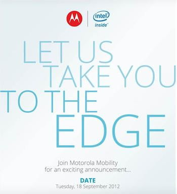 Motorola Intel Invitation