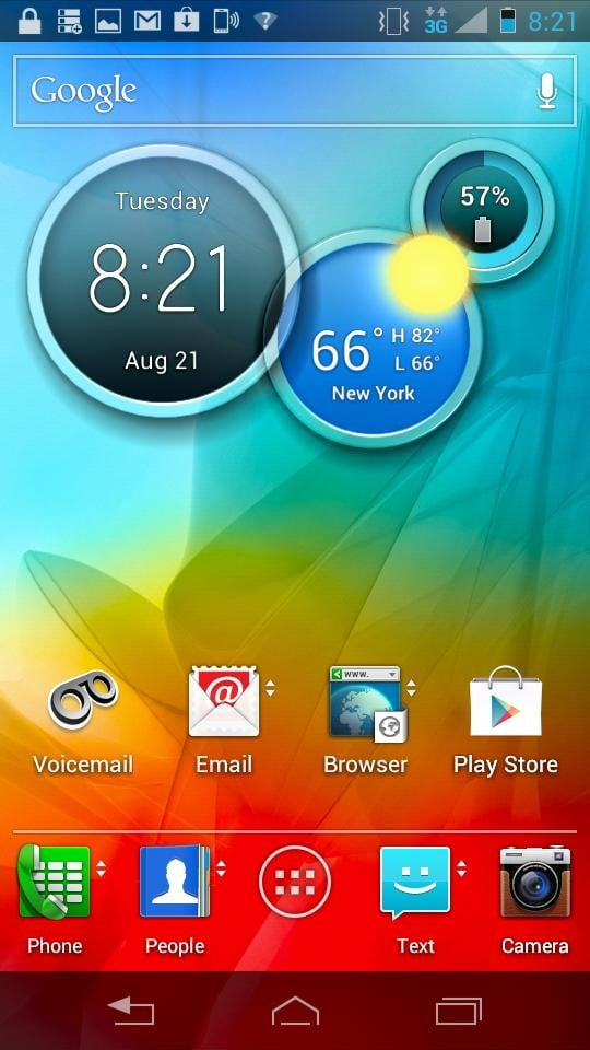 Motorola Photon Q 4G LTE Review screenshot home widgets android slider phone