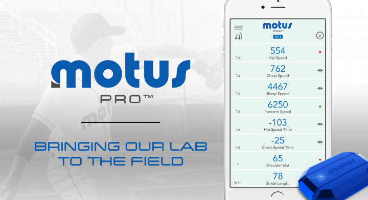 motusglobal introduces motuspro tracking for baseball motus pro tag