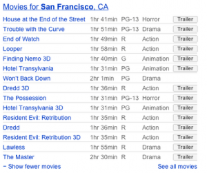 movie search results page