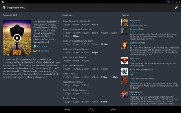 Movie_Showtime_Android_tablet_app_screenshot