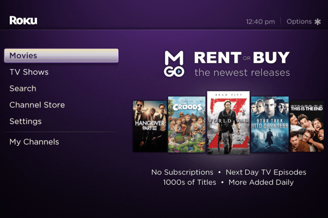 roku partners with m go to beef up its streaming media options movies on edit