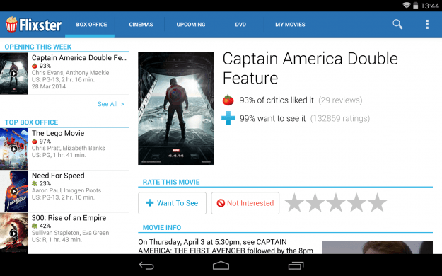 Movies_by_Flixster_Android_tablet_app_screenshot