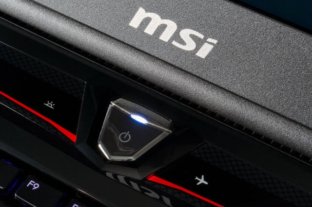 msi storms ces with massive gaming all in one eye tracking laptop global gt  dominator pro power button
