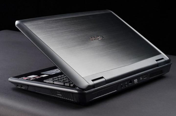 msi gx  review gaming laptop back angle