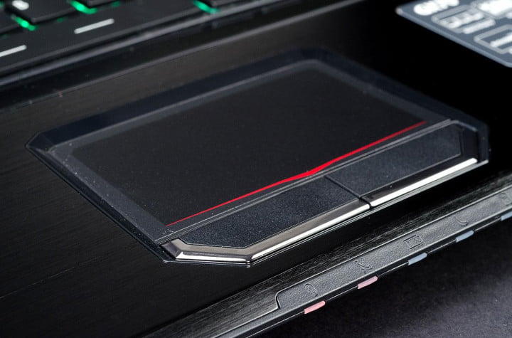 msi gx  review gaming laptop trackpad