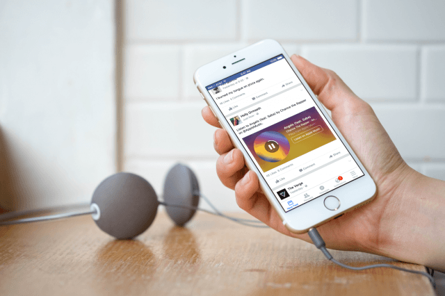 facebook unveils music stories for ios