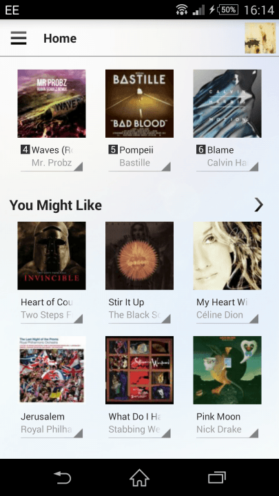 sony music unlimited review its actually quite limited recommendations