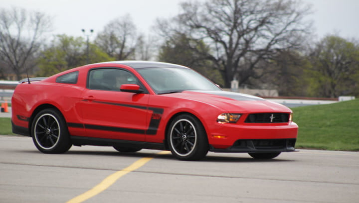 ford mustang boss review red side