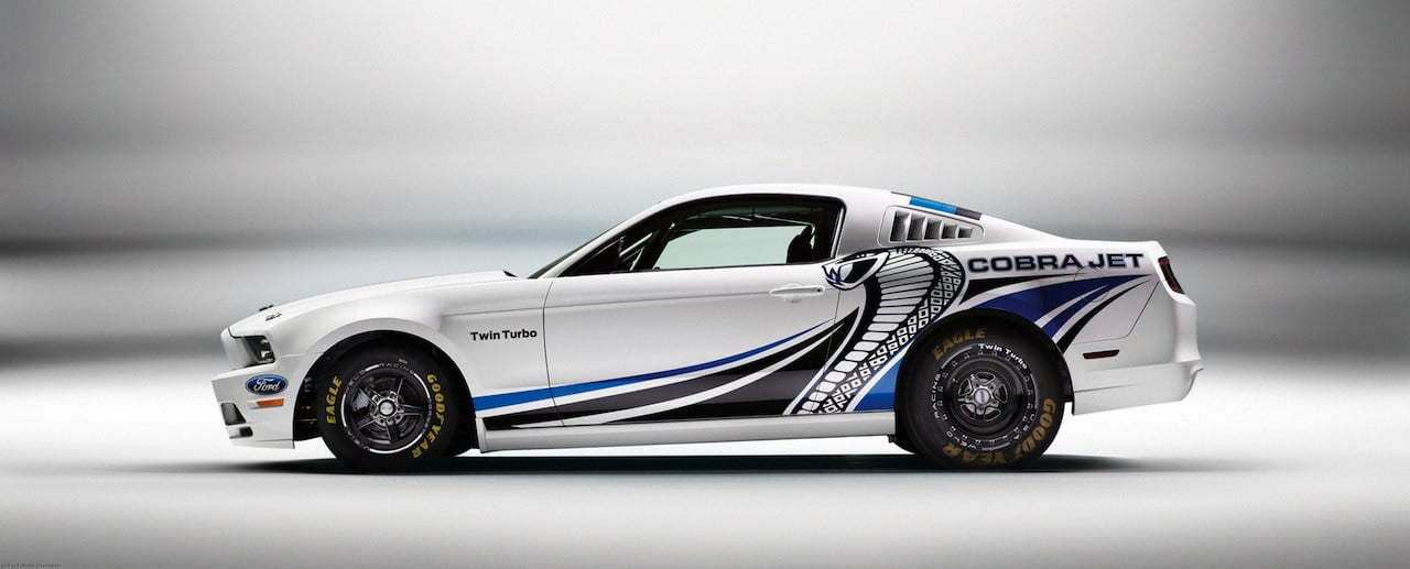 ford shies away from turbos and sticks with a blower for the 2014 mustang cobra jet digital trends. Black Bedroom Furniture Sets. Home Design Ideas