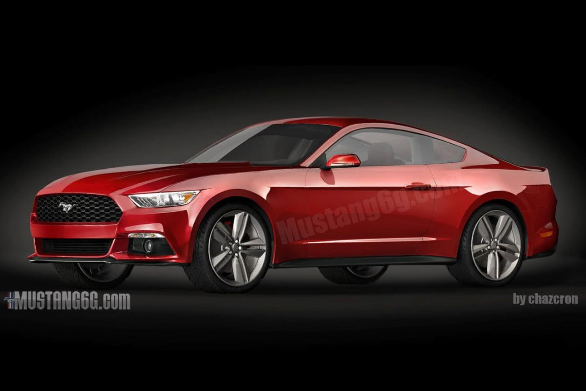 new mustang same as the old renderings of  model are released mustangredfront