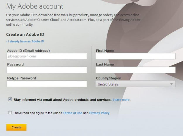 My Adobe Account
