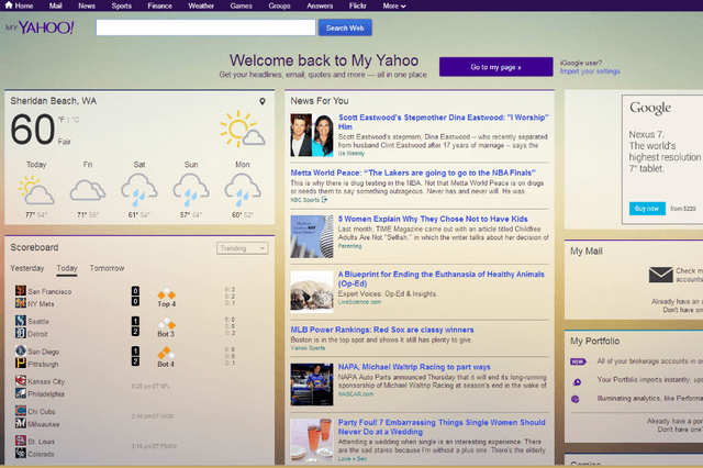 marissa mayer is going to get you back on my yahoo one rt at a time