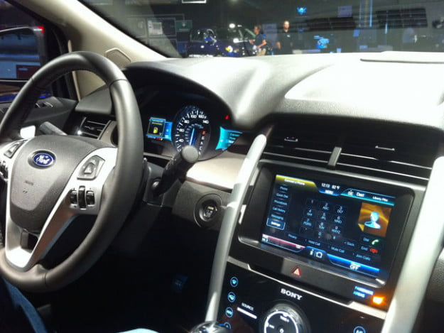 Ford Edge dash featuring MyFord Touch