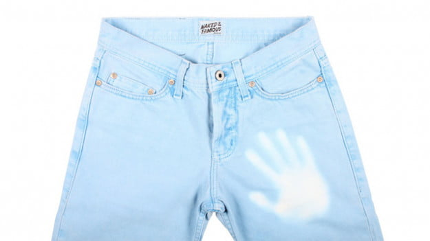 Naked and Famous thermochromic denim jeans