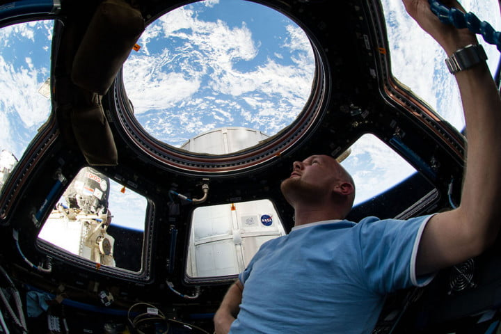 The ISS' cupola