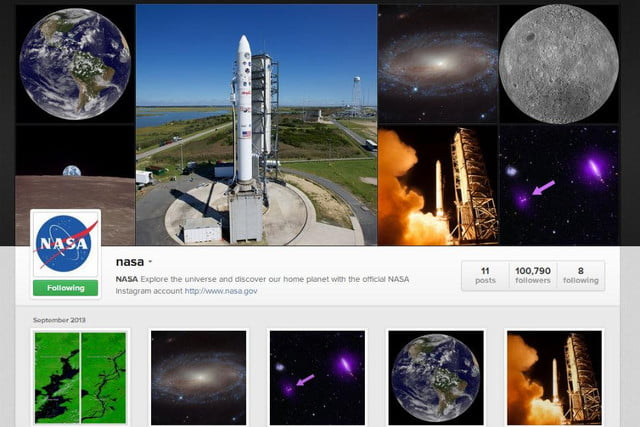 instagram is out of this world literally now that nasa has an account