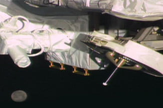 NASA's OPALS laser instrument, onboard the International Space Station, was used to send a video to Earth.