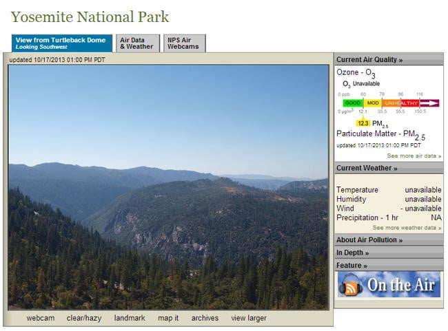 national park webcams yosemite