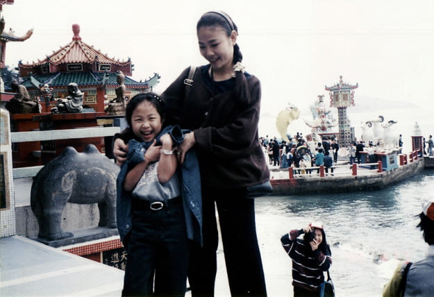 Natt and her Mom in Hong Kong 1997