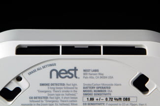 NEST Smoke Detector top back