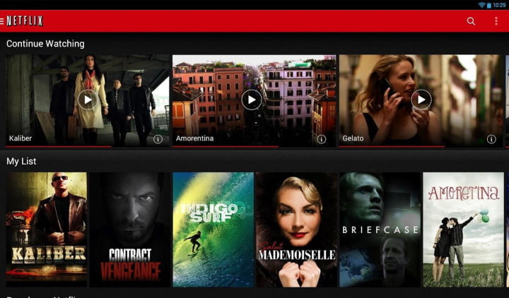 best chromecast apps netflix screenshot