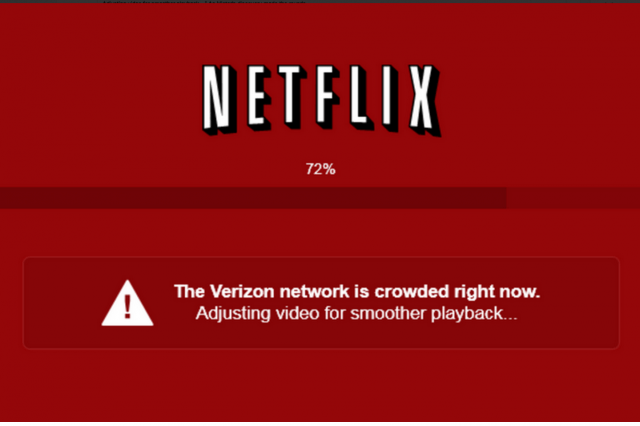 netflix calls verizon right big red screen