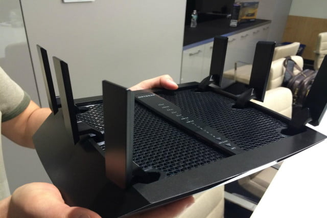 netgears new tri band six antenna router designed homes  devices netgear