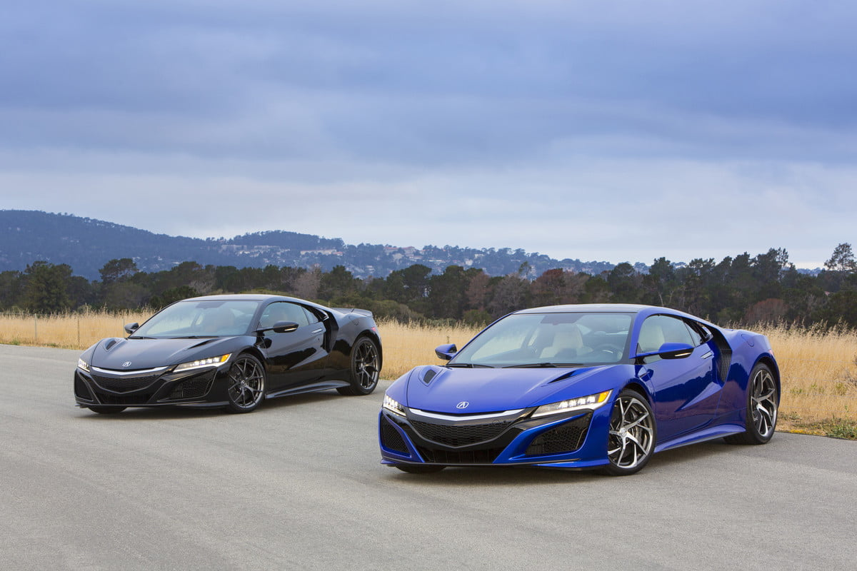 honda baby nsx performance specs news rumors new acura nsxs in berlina black and nouvelle blue