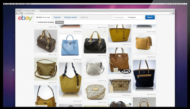New eBay shopping interface
