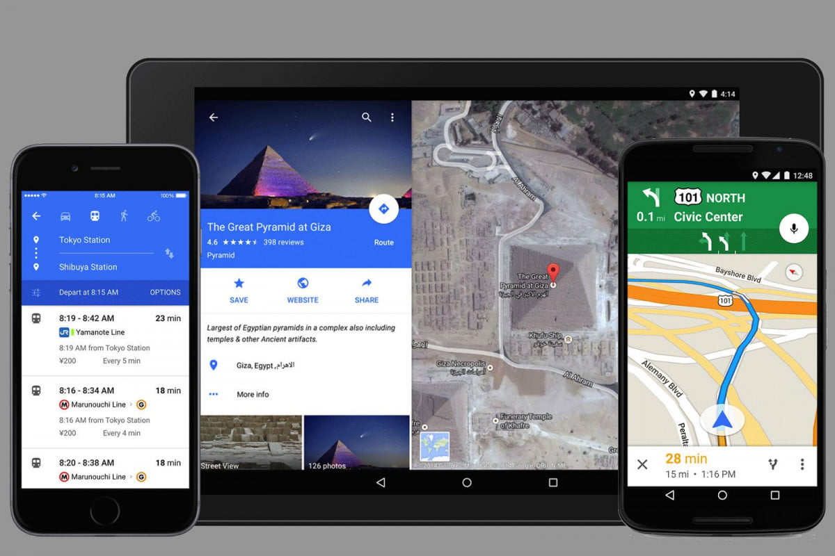google intros new look maps for mobile app