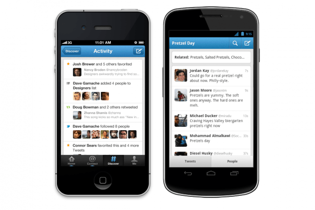 New Twitter App iPhone Android