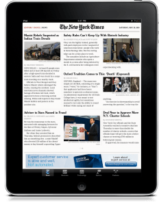 New York Times iPad App