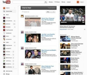 New YouTube Design Google+