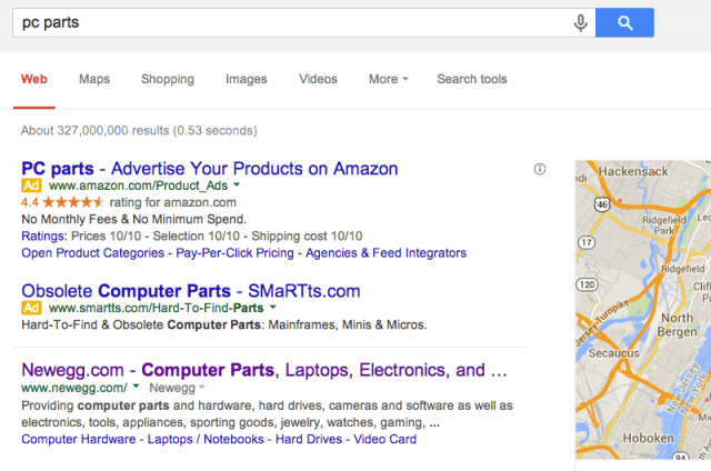 google testing new layout help paid ads blend organic search newgoogleads