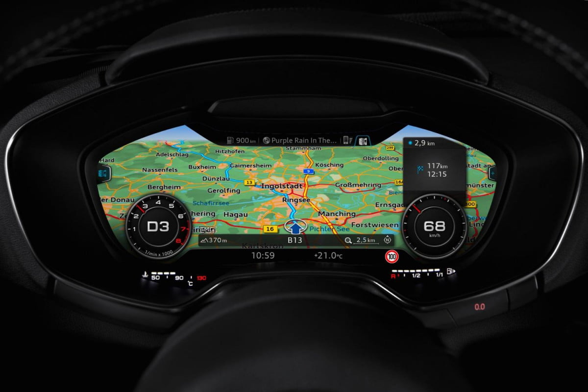 refreshed audi a  could get virtual cockpit display tt (european model)
