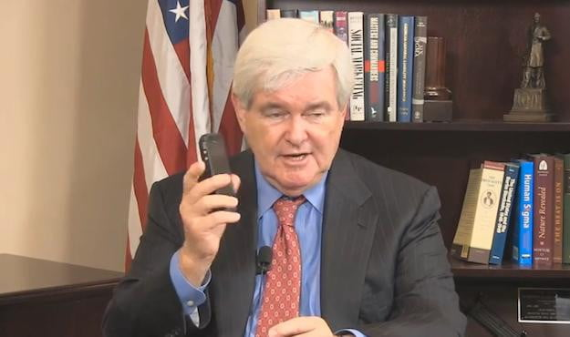 Newt Gingrich iPhone