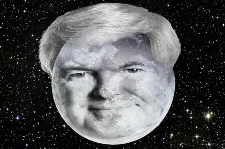 newt gingrich is the moon