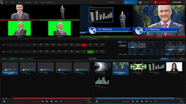 The TriCaster Mini's user interface takes about 30 minutes to learn the most basic functions.