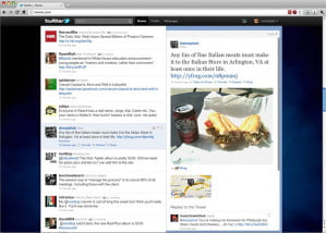 New Twitter Homepage with Picture and Map