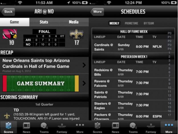nfl 12 app screenshot football app