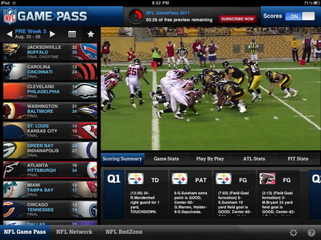 nfl game pass football season streaming online sports