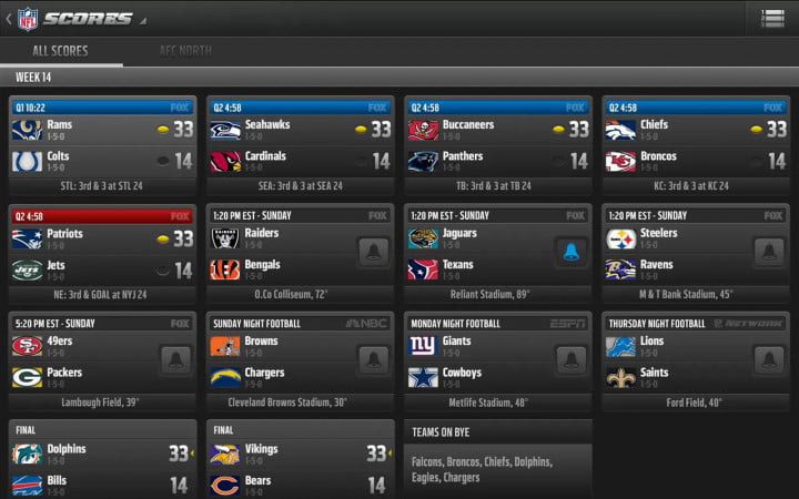 the nfl unveils new apps for mobile domination but why stop there app verizon game center scores
