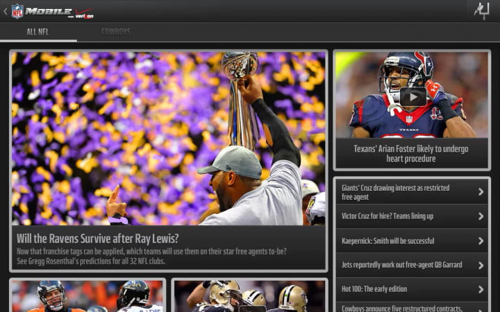 the nfl unveils new apps for mobile domination but why stop there app verizon news