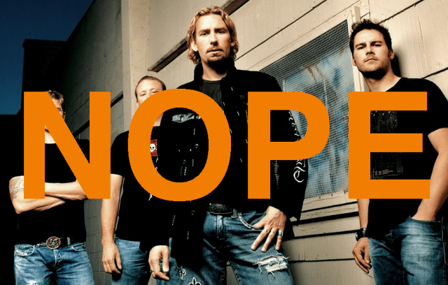 nickelback tops pop music reading levels nope
