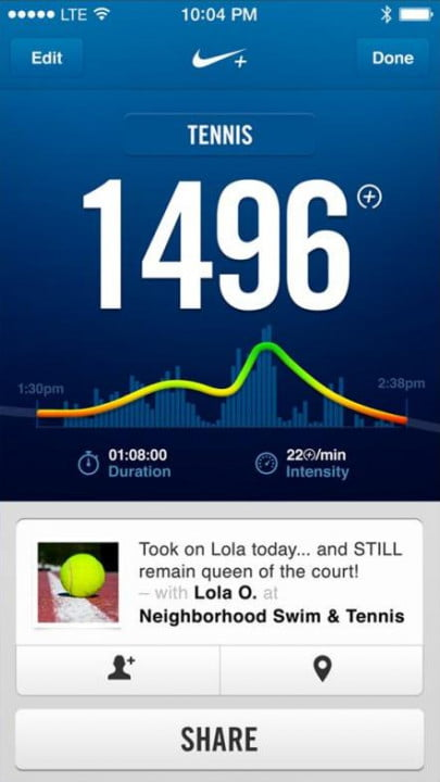 nike fuelband se review app tennis